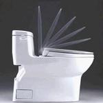 Soft-close toilet seat prevents slamming