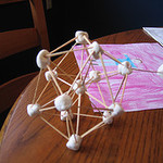 Make a geometric sculpture out of marshmallows and toothpicks