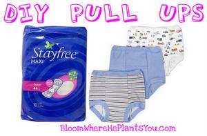 DIY Pull Ups (Bloom Where He Plants You) #parenthacks