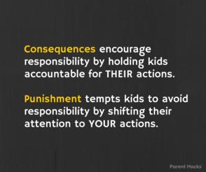 Consequences vs. punishment #parenthacks #kids #parenting