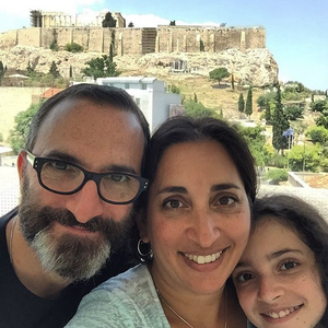 The Dornfest family in Athens, Greece