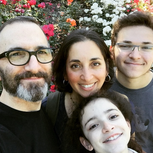 Asha Dornfest and family