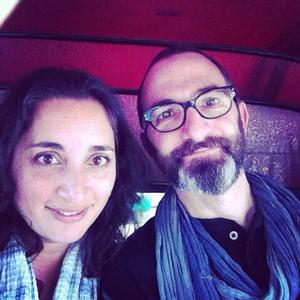Asha and Rael in a Bangalore auto rickshaw