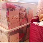 Simple system for storing and organizing hand-me-downs