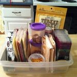Transform cardboard containers into snack organizers