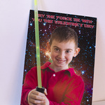 Photo + glow stick = Star Wars Light Saber Valentine