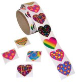Amazon: Funky heart stickers (100)