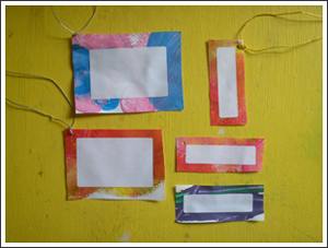 Turn your kid's art into gift tags