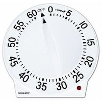 Amazon: Cook-Rite 60-Minute Quartz Timer, White