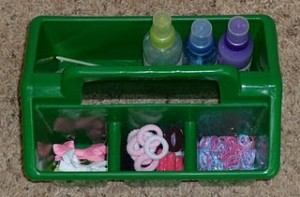 Create a portable hair styling tote