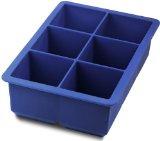 Amazon: Tovolo 80-5521 King Cube Jumbo-Size Silicone Ice-Cube Tray, Blue