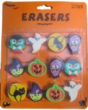 Amazon: Spooky Ghosts, Witches, Pumpkins Halloween Treat Party Erasers - 12 pc Set