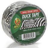 Amazon: Duck Brand 280110 Zebra All Purpose Duck Tape, 1.88 Inches x 10 Yard Single Roll, Black and White
