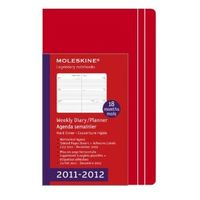 Amazon: Moleskine 2012 18 Month Weekly Planner Horizontal Red Hard Cover