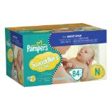 Amazon: Swaddlers Size Newborn Diapers Big Pack 84 Count