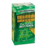 Amazon: Dixon Ticonderoga 13872 Woodcase Pencil, HB #2, Yellow Barrel, 96 per Pack