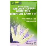 Amazon: GP 100-Count Clear White Wire Miniature Light Set