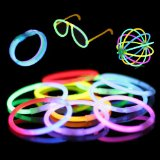 "Amazon: 100 8"" Premium Glow Stick Bracelets (10 Color Mixed Assortment)"