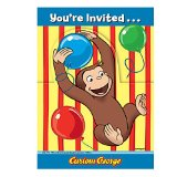 Amazon: Curious George Invitations 8ct