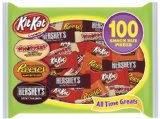 Amazon: Assortment (Hershey's Milk Chocolate, Whoppers, Kit Kat and Reese's Peanut Butter Cups), 100-Piece, 37.3-Ounce Bag