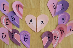 Valentine Hearts Letter Match Game_1