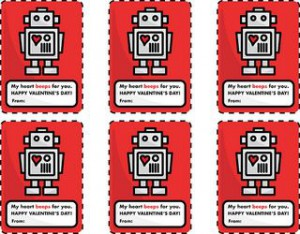 robot Valentines for you