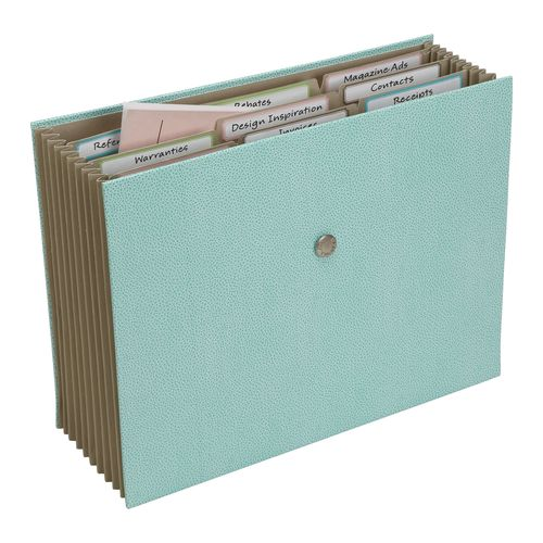 Shagreen Accordion File-in blue (2)