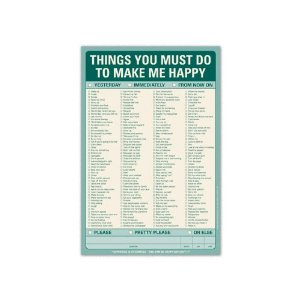 Amazon: Things You Must Do to Make Me Happy Pad