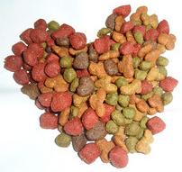 Dog food heart