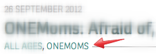 ONEMoms category heading