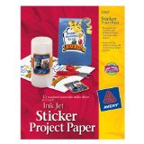 At Amazon: Avery Sticker Project Paper, White, 8.5 x 11 Inches, Pack of 15 (03383)
