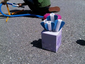 Store stomp rockets in an empty tissue box. Photo credit: Whitney Moss