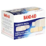 At Amazon: Band-Aid Brand Adhesive Bandages, Variety Pack, 280 Count