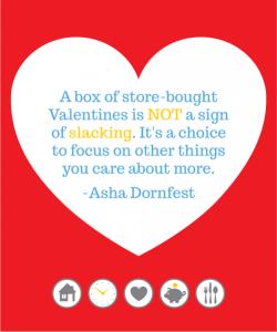 The Minimalist Parenting take on classroom Valentines. Design: Christine Koh