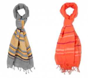 FashionABLE Fekelu scarves, available exclusively at ONE