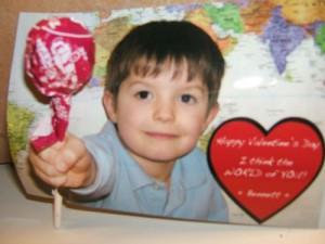 Optical illusion lollipop valentine