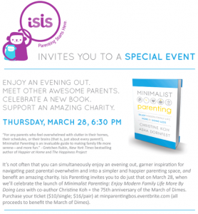 Minimalist Parenting Boston launch party