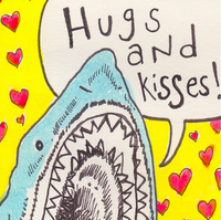 At Etsy: Mother's Day Card: Shark Attack, by Emily-Bell