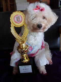 Princess Grace Bianca with Trophy