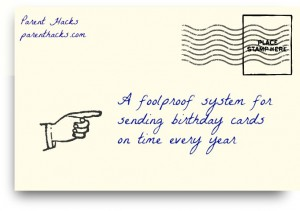 A foolproof system for sending birthday cards on time every year