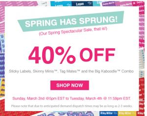 Mabel's Labels Spring Sale