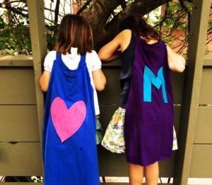 Turn a t-shirt into a no-sew superhero cape. Photo credit: Cool Mom Picks #SavorSummer