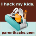 Parent Hacks square link badge